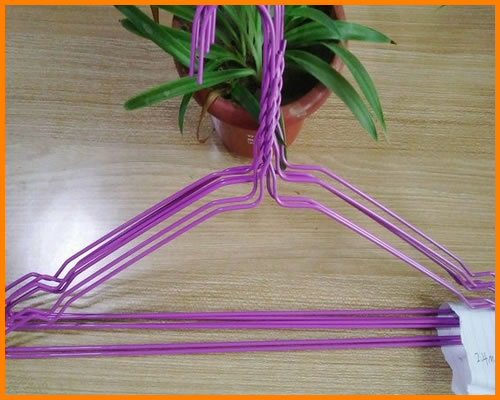 blue color wire hangers