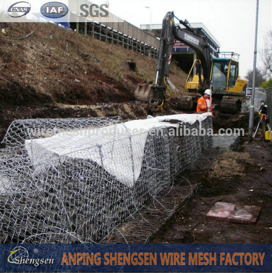 PVC Coated/Galvanized Gabion Box/Basket